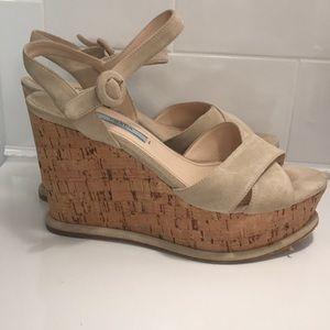 Prada platform sandals, size 38